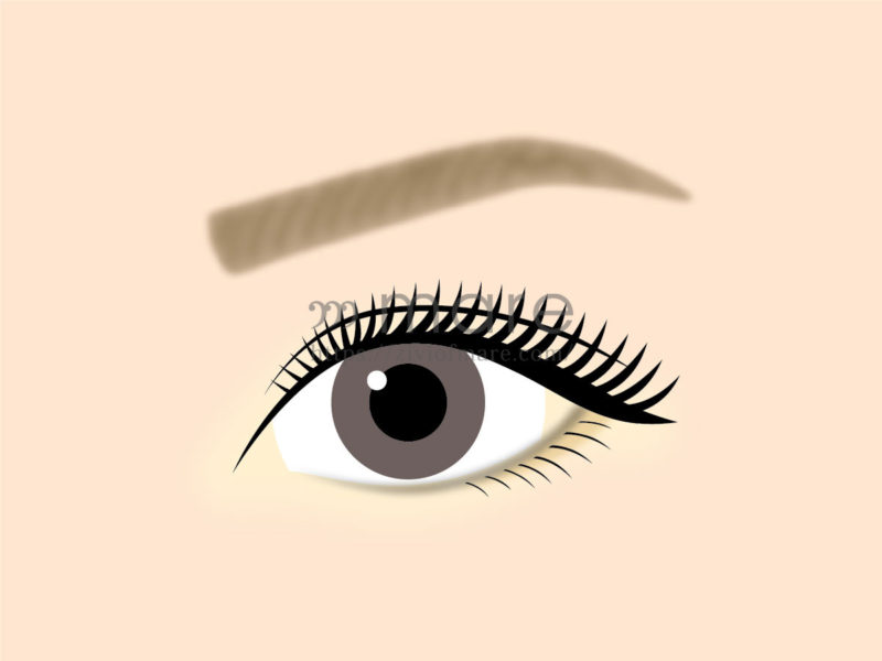 マツエクを目尻長めにするだけで目が大きく見える!その差を比較して検証2