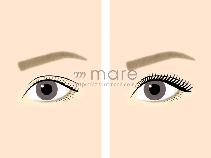 マツエクを目尻長めにするだけで目が大きく見える!その差を比較して検証