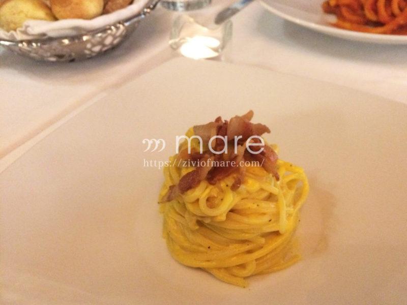 カルボナーラの本場ローマではグアンチャーレとペコリーノチーズを使う9