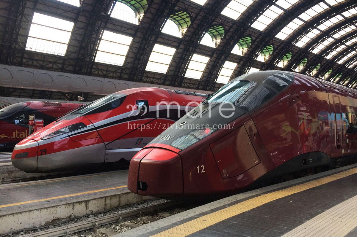 トレニタリア(Trenitalia)とイタロ(.Italo)