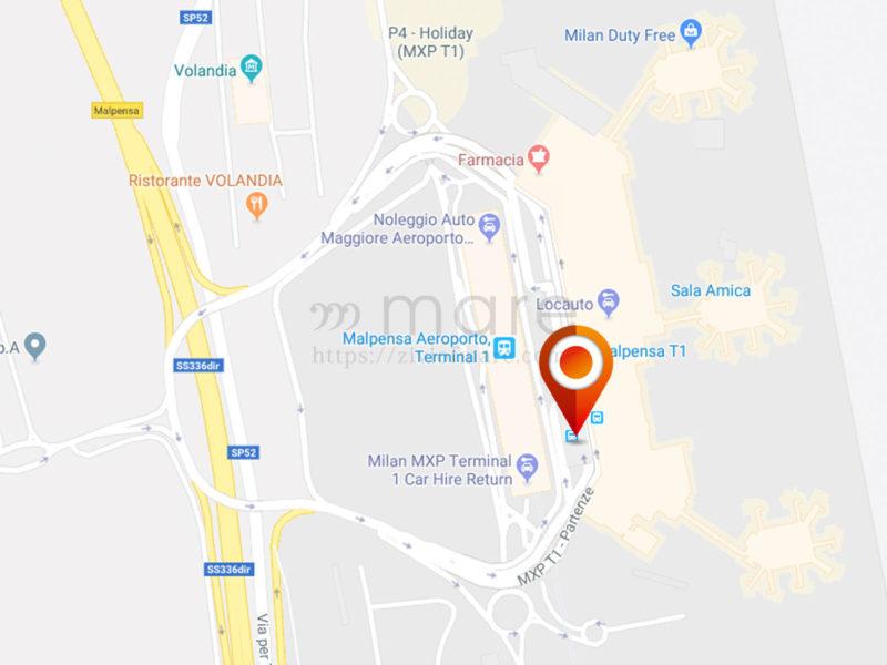 イタリアへの入国とミラノマルペンサ空港からミラノ中央駅までの移動手段バス乗り場