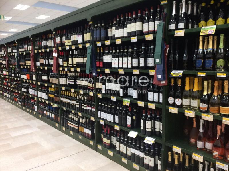 スーパーマーケットのイタリアンワイン