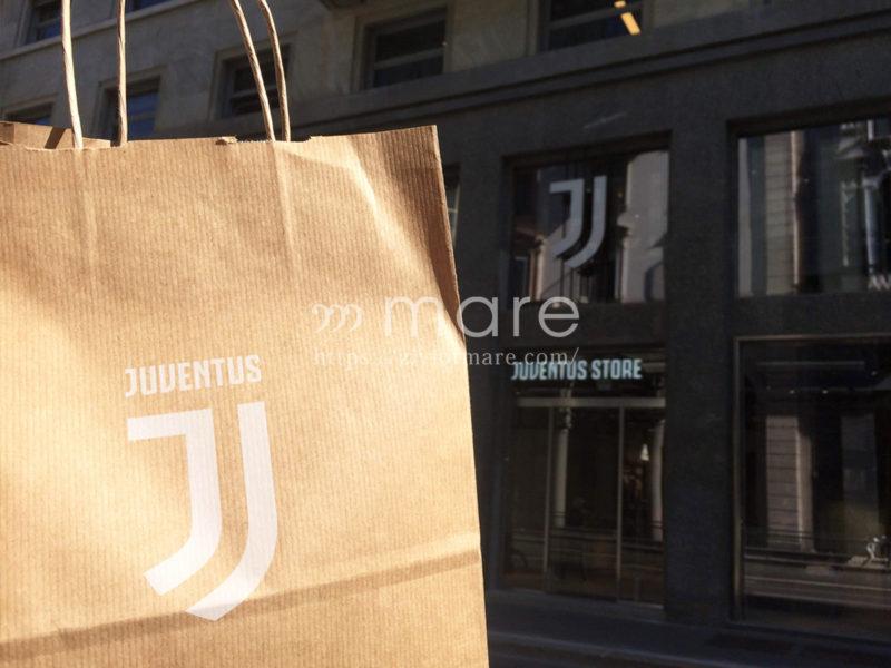 ミラノにユヴェントスストアが7月4日にオープン!ショッピングバッグ