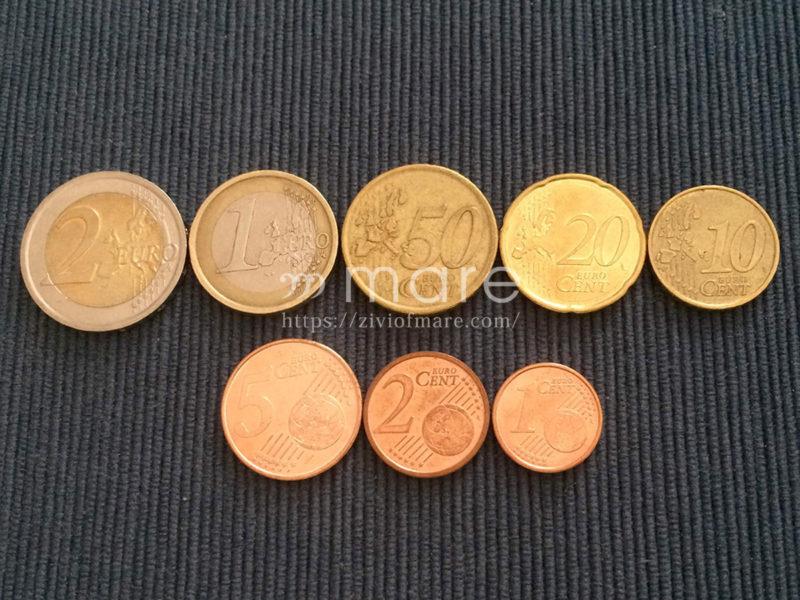 ユーロコインの片面は地図で共通のデザイン