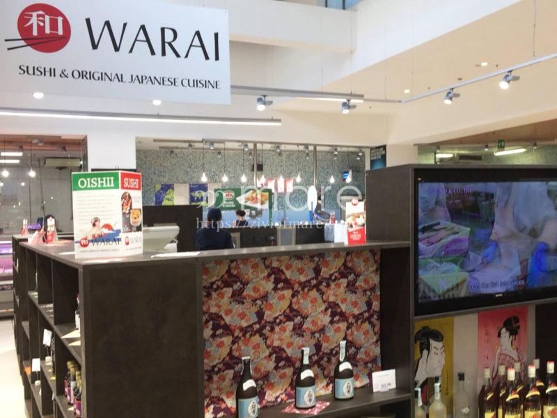 コープイタリアで日本人が手がけるWarai Sushiの充実した日本食材店内