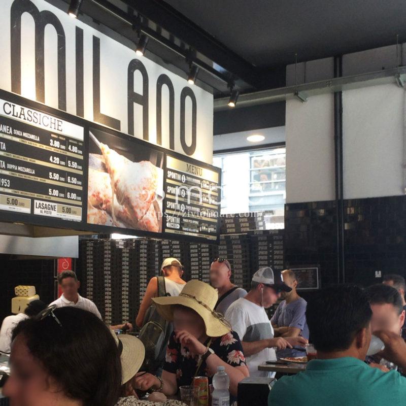 イタリアのミラノでさくっとピザを食べるなら!おなじみのスポンティーニ店内