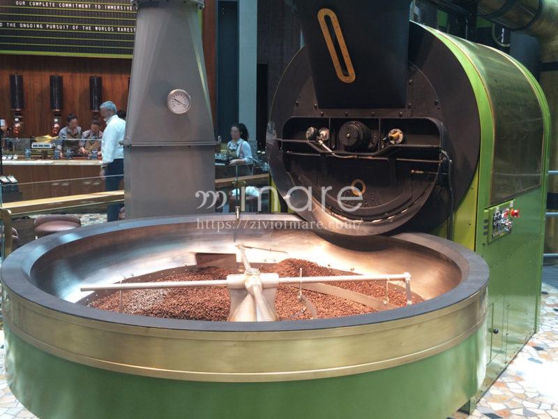 イタリア初のミラノのスターバックス焙煎マシン